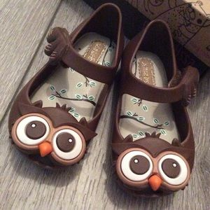 Mini Melissa Animal Lovers Brown Owl Mary Janes